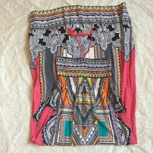 Flying Tomato Tribal Maxi Sundress L